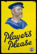 PLAYER's NAVY CUT (2+) Emailschild, flach, schabloniert und fein lithographiert, England um 1925, 57