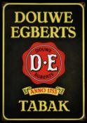 DOUWE EGBERTS TABAK (1) Emailschild als kleine Version, schabloniert, Niederlande vor 1951, 30 x