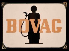 BOVAG (1) Emailschild, abgekantet, schabloniert, Niederlande um 1950, 24 x 17 cm Emaillen bord