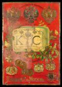 K&C POPOFF TEE (3) Blechschild, Schriften, Medaillen und Motiv in spürbarem Relief geprägt, zudem