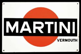 MARTINI VERMOUTH (1) Emailschild, abgekantet, schabloniert, Italien 4/1952, 57 x 37 cm, Moneta