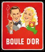 BOULE D'OR (1) Emailschild, abgekantet, schabloniert und lithographiert, Belgien 1953, 56 x 66 cm,