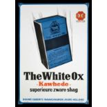 """THE WHITE OX - KAWHEDE """"(0) Emailschild, abgekantet, schabloniert und lithographiert, Joure/"""