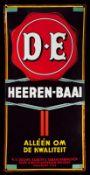 DOUWE EGBERTS HEEREN-BAAI (1+) Emailschild, stark gewölbt, fett, zuckergußartig schabloniert,