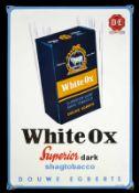 THE WHITE OX - SUPERIOR (1) Emailschild, abgekantet, schabloniert und lithographiert, Joure/