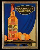 HOOGHOUDT'S VALENCIA (1-2) Papplithographie im Holzrahmen, Groningen/Niederlande um 1930, 51 x 68 cm