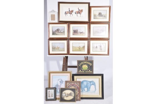 A mixed group of prints and picturesTo include a set of framed ...