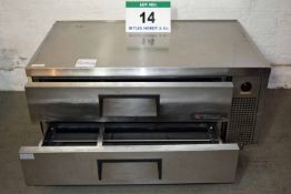 A TRUE 1.3M Stainless Steel Single Phase Chef Station Hot Cupboard (As Photographed)