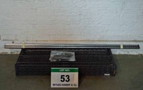 A Bay of Plastic Coated Wire Rack Shelving with Four 1200mm x 500mm Shelves, Four 1800mm Upright