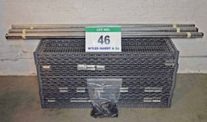 Three Bays of Plastic Coated Wire Rack Shelving, each comprising Five 1200mm x 600mm Shelves, Four