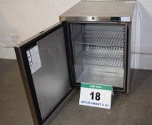 A FOSTER HR150-A Stainless Steel Under Counter Single Door Refrigerator