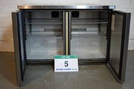A FOSTER HS360 Stainless Steel 2-Door Chiller Cabinet with Counter Top