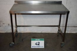 A 1200mm x 700mm Stainless Steel Preparation Table