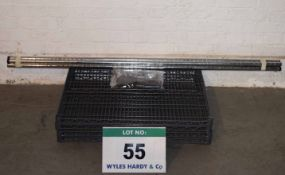 A Bay of Plastic Coated Wire Rack Shelving with Four 800mm x 600mm Shelves, Four 1600mm Upright