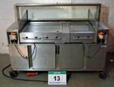 A RIEBER ACS 1700mm Cooking Station with Hot/Cold Storage Under A VARITHEK 4-Element Hot Plate & A