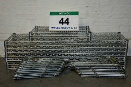 Seven VOGUE 1200mm x 300mm Stainless Steel Wire Rack Shelves, Two VOGUE 600mm x 300mm Stainless
