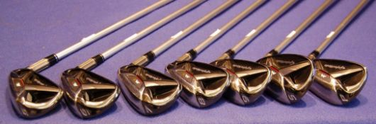 A Set of Seven TAYLORMADE M2 2015 Right Handed Irons (5-SW) all on TAYLORMADE M2 REAX 45 Flex-L