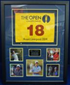 A 99cm x 78cm Framed & Glazed Display commemorating Rory McIllroy's Victories in the 2011 US Open