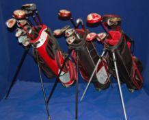 A WILSON Deep Red Lightweight Junior Golf Bag, A NIKE Junior Golf Bag & A FAZER JTEK Junior Golf Bag