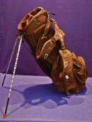 A TITLEIST Lightweight Golf Stand Bag with 4-Way Top, Six Pockets, Rain Hood & EAZI Strap Back-