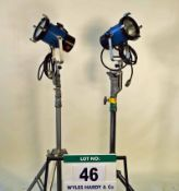 Two LTM Ambiarc 200 Lights with Ballast Power Supply