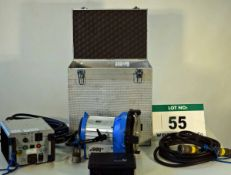 An ARRI ARRISUN 5 575 Lighting Kit complete with Light, Ballast Power Supply Associated Leads and
