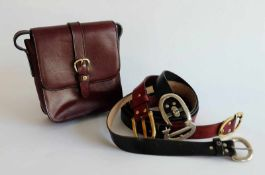 DESIGNKONVOLUT, Hersteller Aigner/ München, 1970er-Jahre, farbiges Leder, bestehend aus: