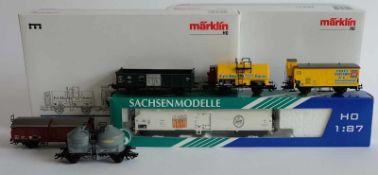 WAGGONSET, 3 Güterwagen der SNCF Epoche III, Hersteller Märklin/ Göppingen, Spur H0, Nr. 47894, dazu