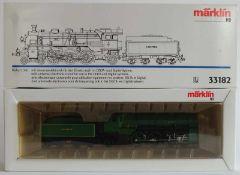 DAMPFLOKOMOTIVE, Reihe S 3/6, Hersteller Märklin/ Göppingen, Spur H0, Nr. 33182, Delta- und