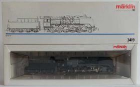 DAMPFLOKOMOTIVE, Serie 49, Hersteller Märklin/ Göppingen, Spur H0, Nr. 3419, orig. Karton