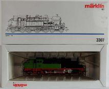 DAMPFLOKOMOTIVE, Württ. T 18, Hersteller Märklin/ Göppingen, Spur H0, Nr. 3307, orig. Karton
