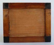 RAHMEN, Biedermeierepoche, Kirsche, in den Ecken ebonisierte Quadrate, Innen- ca. 14 x 19,4 ,