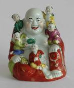 FIGUR, Putai, Hongkong, Porzellan, polychrom gefasst, goldstaffiert, H 24,5 cm