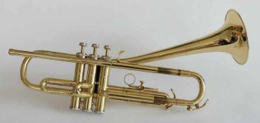 TROMPETE, Hersteller Jupiter K.H.S. Musical Instrument Co. Ltd./ Taipeh, Messing poliert, Tasten mit