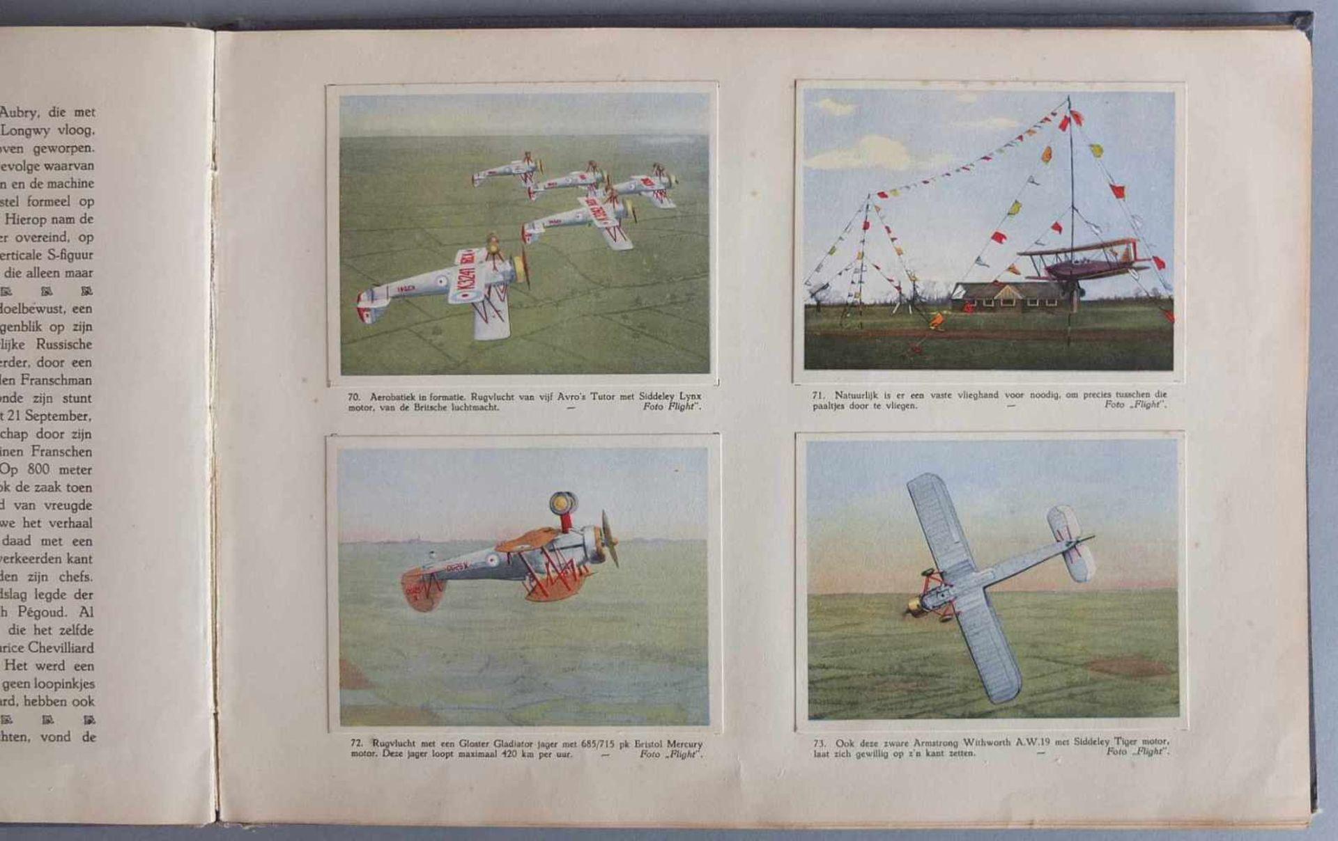 SAMMELALBUM, Patria´s Luchtvaartalbum, Henri Hegener, Amsterdam, 1936, geprägter Leineneinband, - Bild 6 aus 6