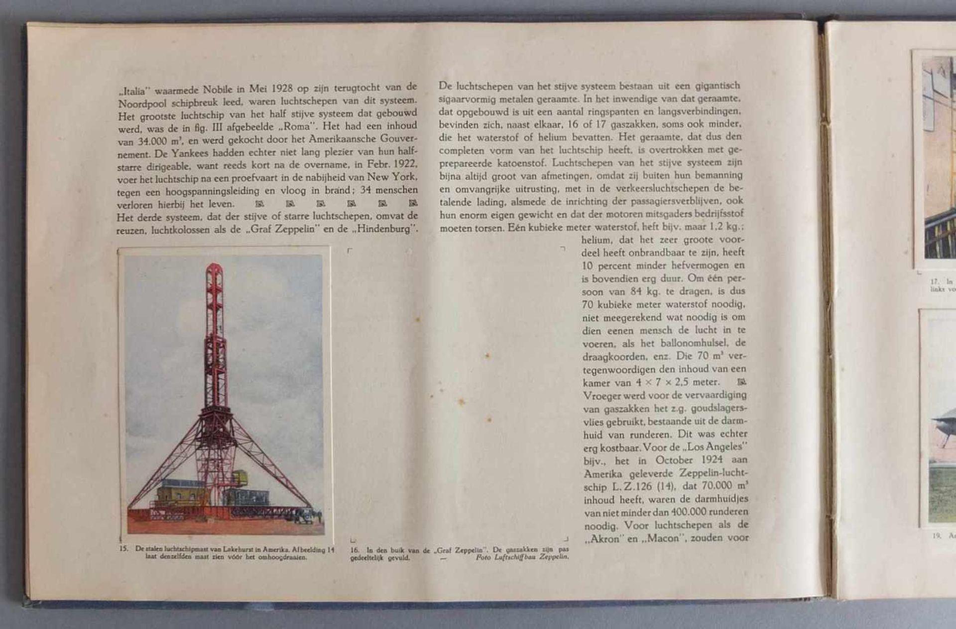 SAMMELALBUM, Patria´s Luchtvaartalbum, Henri Hegener, Amsterdam, 1936, geprägter Leineneinband, - Bild 5 aus 6