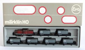 ZUGPACKUNG, Kesselwagenzug EVA mit BR 212, Herst. Märklin/Göppingen, Spur H0, Nr. 2855, minimalst