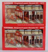 PAAR RINGLOKSCHUPPEN, Bausätze, Herst. Fleischmann/Heilbronn, Spur H0, Nr. 6476, minimalst bespielt,