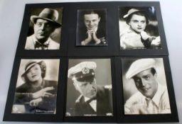 6 Autographen Filmstars der 30er Jahre auf originalen Filmfotos UFA etc. S/W-Fotos der