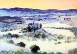 """""""Sonnenaufgang in Orcia"""" - Uwe Herbst (*1952) Öl auf Leinwand, wunderschöne, toskanische"""