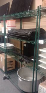 "Lot 20 - 24 x 48"" - 4 Tier Powder Coated Metro Rack on Casters"