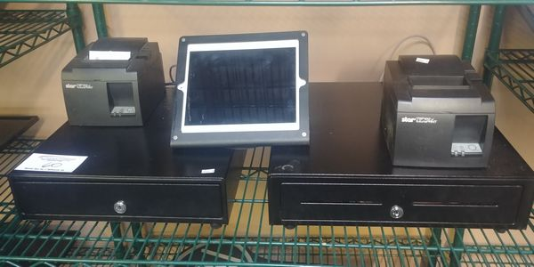 Lot 60 - POS Systems with 2 Drawers, Printers, Tablet and Keys