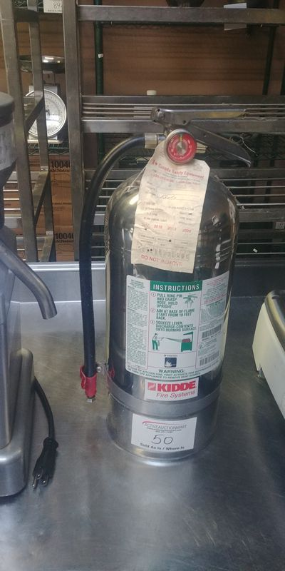 Lot 50 - Stainless Steel KD Fire Extinguisher