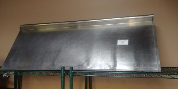 """Lot 56 - Approx. 60"""" Stainless Steel Dish Drying Shelf"""