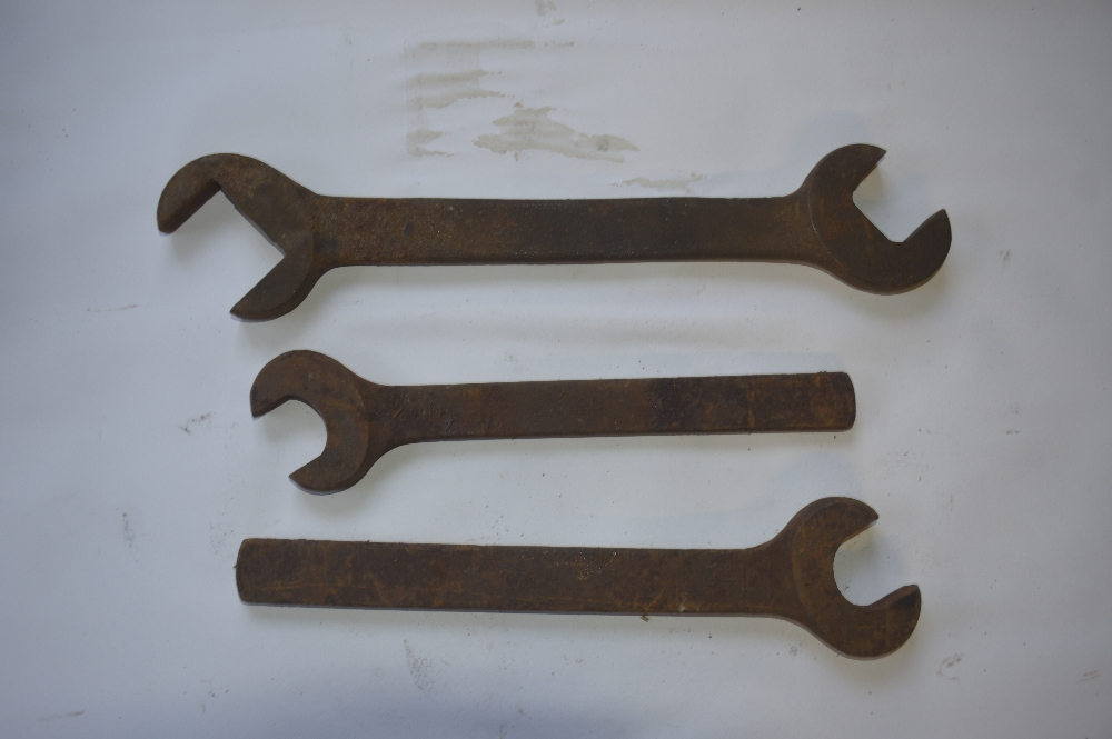 "Lot 2 - Three WF spanners, length of longest approx. 18"" (3)."