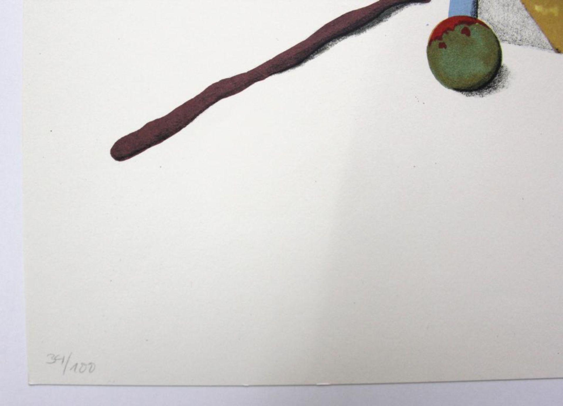 Korab Karl (geb. 1937) Ohne Titel 1974 Farblithographie handsigniert, datiert und nummeriert ed. - Bild 3 aus 3