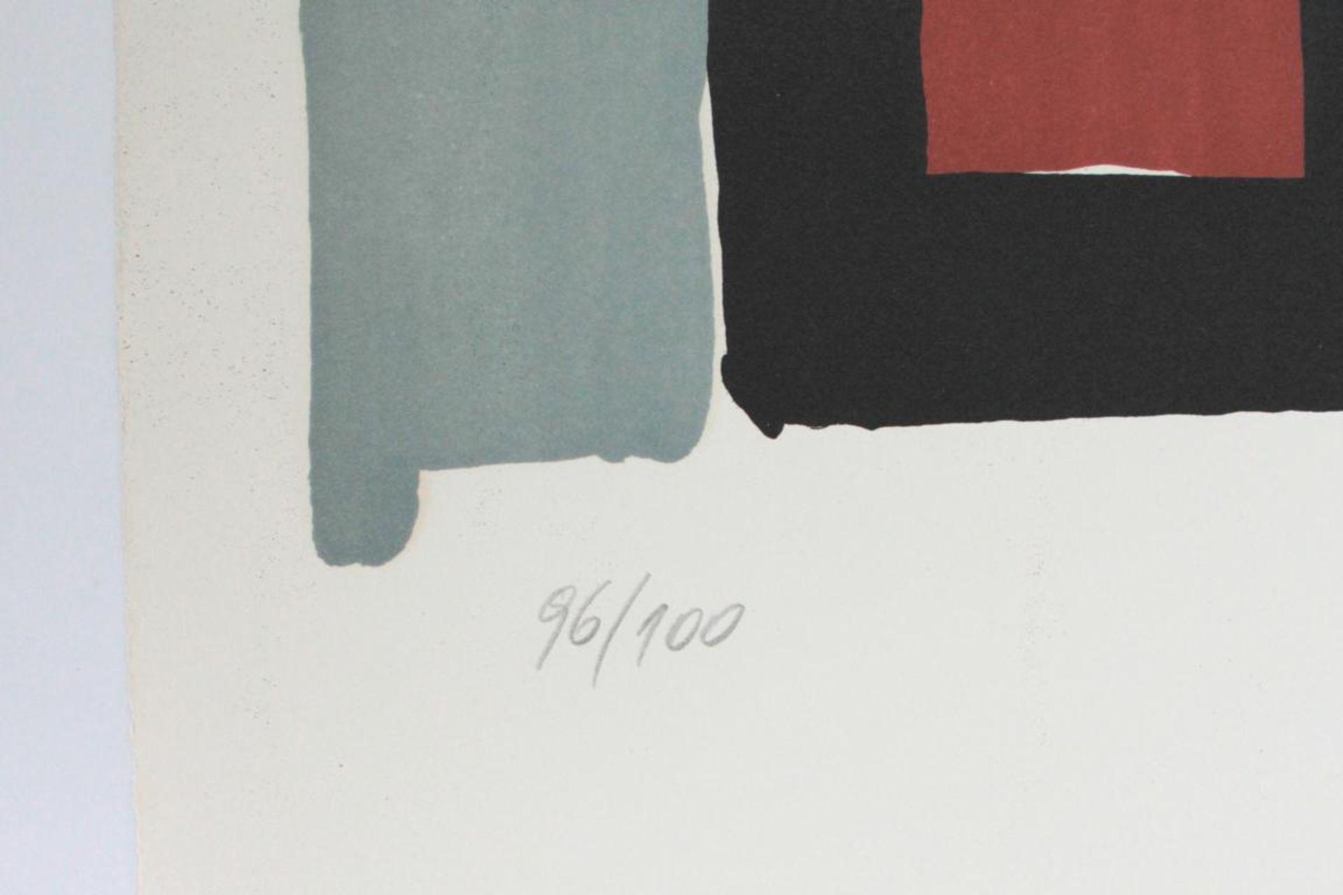 Prachensky Markus (1932-2011) Geometrische Komposition 1950/60 Farblithographie handsigniert und - Bild 3 aus 3