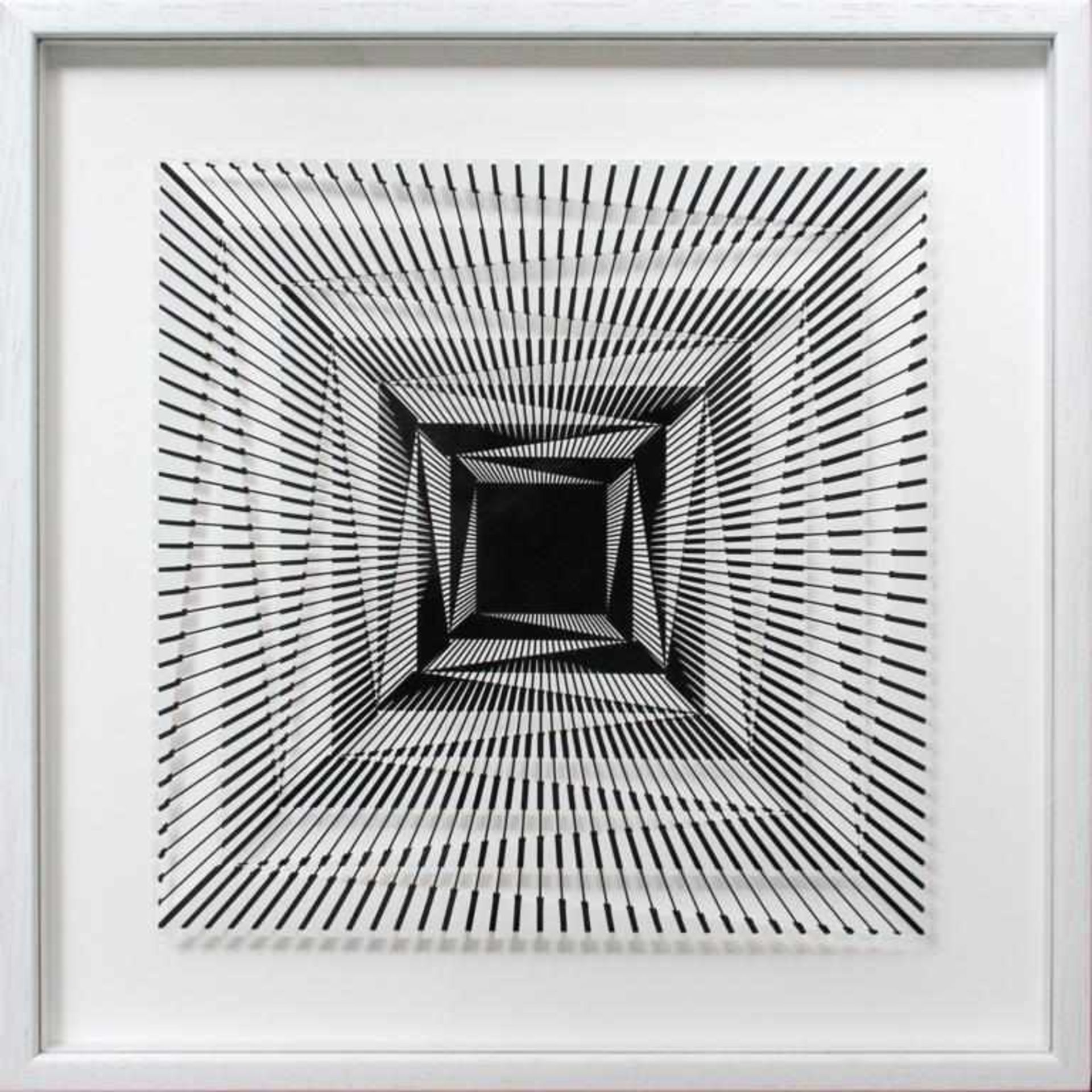 Los 13 - Morandini Marcello (geb. 1940) Komposition 655b 2017 3D Konstruktion aus Baumwollpapier und