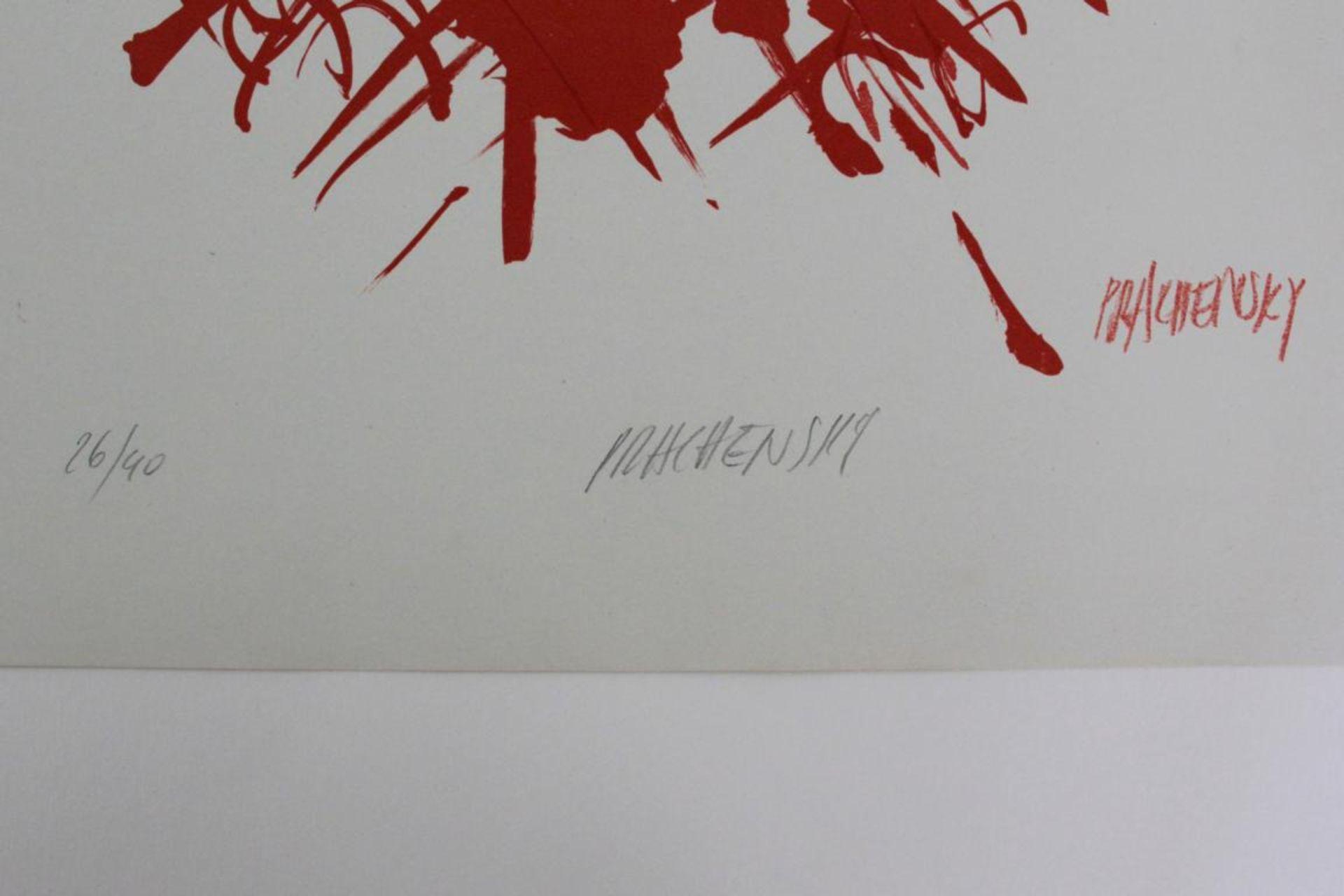 Prachensky Markus (1932-2011) Ohne Titel 1960er Farblithographie handsigniert und nummeriert 26/40 - Bild 2 aus 2