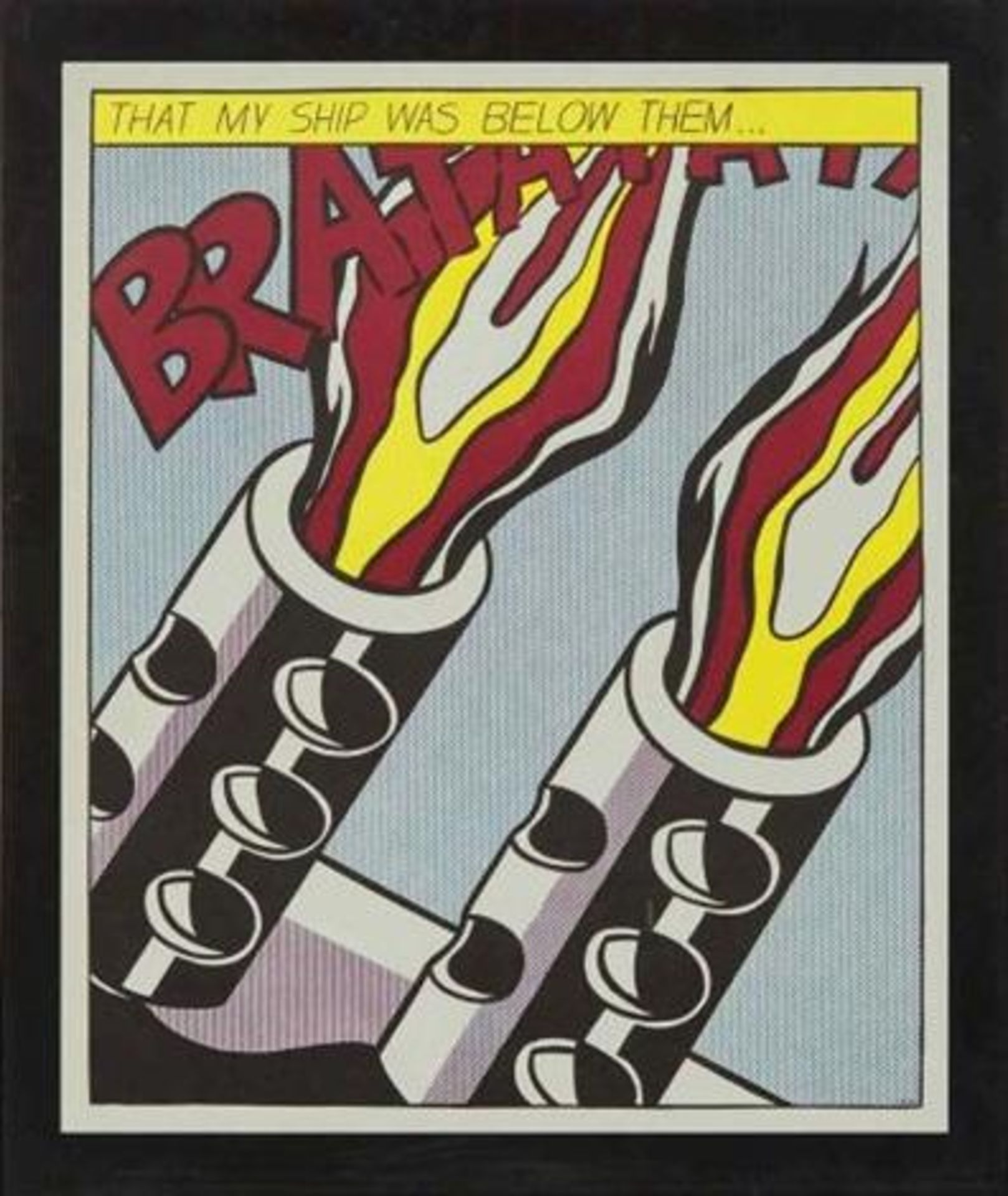 After Roy Lichtenstein (1932-1997) As i opened fire - 3 nach 1966 Offset-Lithographie Poster